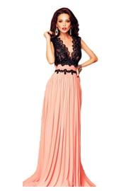 Платье в пол с кружевным топом