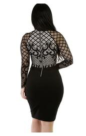 Платье с сетчатым топом
