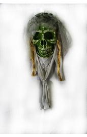 Подвесной зеленый череп