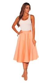 Оранжевая юбка миди
