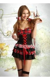 Красно-черный костюм школьницы