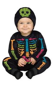 Костюм малыша-скелетона цветной