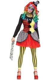 Женский костюм клоунессы-фрика