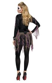 Женский костюм скелетона 3D