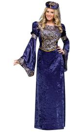 Фиолетовый костюм королевы ренессанса