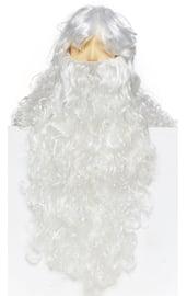 Парик и борода Деда Мороза Делюкс