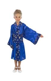 Синий костюм японки