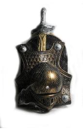 Набор рыцаря бронзового цвета
