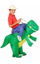 Детский надувной костюм На динозавре
