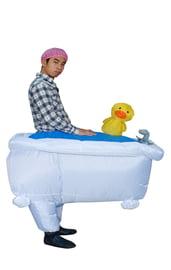 Надувной костюм В ванной