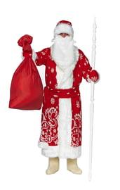 Красный классический костюм Деда Мороза