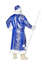 Блестящий синий костюм Деда Мороза