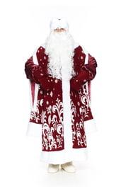 Бордовый костюм Деда Мороза