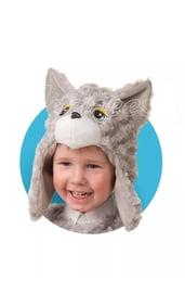 Меховая шапочка-маска Котенок