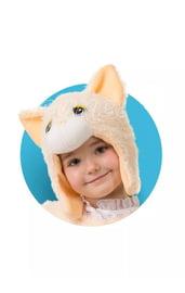Меховая шапочка-маска Кошечка