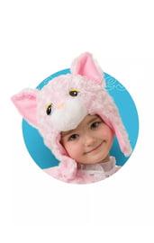 Розовая шапочка-маска Кошечка