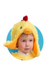 Меховая шапочка-маска Цыпленок