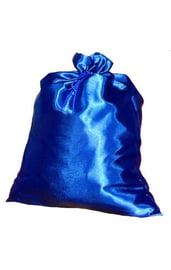 Синий сатиновый мешок Деда Мороза