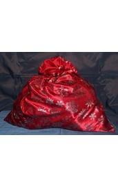 Красный мешок Деда Мороза со снежинками