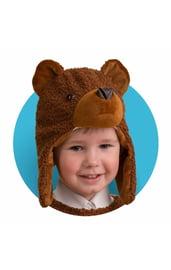 Меховая шапочка-маска Медвежонок