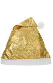 Новогодний колпак золотистый