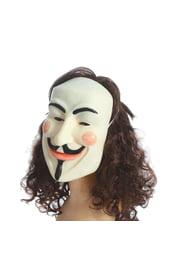 Латексная маска Анонимуса