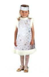 Детский костюм серебристой снежинки