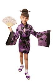 Лиловый костюм китаянки