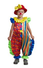 Яркий костюм маленького клоуна
