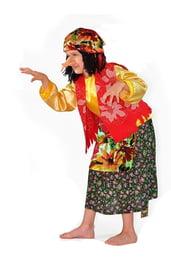 Детский цветной костюм Бабы Яги