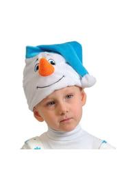 Шапочка-маска Снеговичок