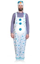 Плюшевый костюм Снеговик