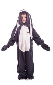 Детская пижама-кигуруми Серый заяц