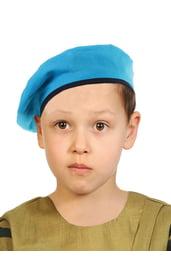 Детский берет голубой