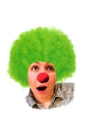 Зеленый клоунский парик