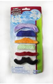 Набор цветных усов 6 шт