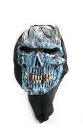 Голубая маска демона с рожками