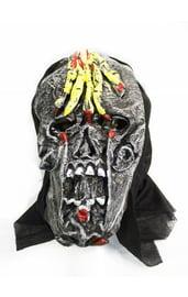 Маска черепа с рукой