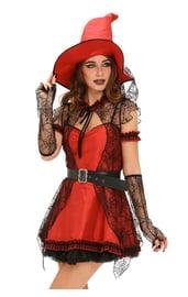 Красный костюм ведьмочки