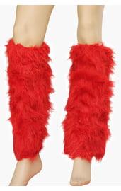 Красные меховые гетры