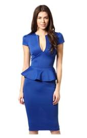 Синее элегантное платье