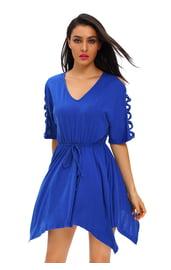 Свободное синее платье