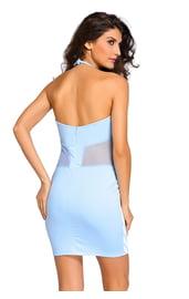 Платье в голубую полоску
