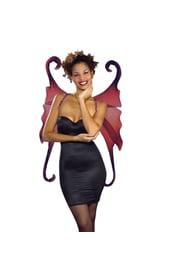 Крылья готической феи цвета бургунди