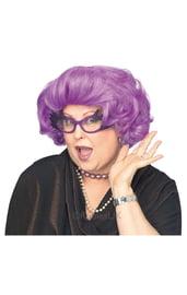Фиолетовый парик дамочки