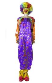 Фиолетовый клоунский костюм