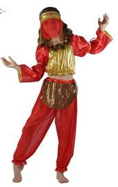 Красно-золотой костюм восточной танцовщицы