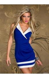 Платье с контрастными деталями