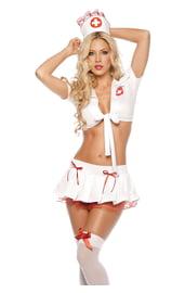 Костюм медсестры в кружевах