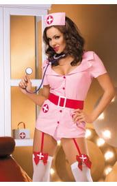 Костюм Медсестры-кокетки в розовом